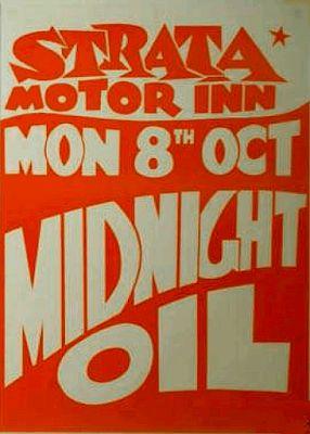 Midnight Oil: MIDNIGHT OIL - 8 Oct 1979 Strata Motor Inn, Cremor...