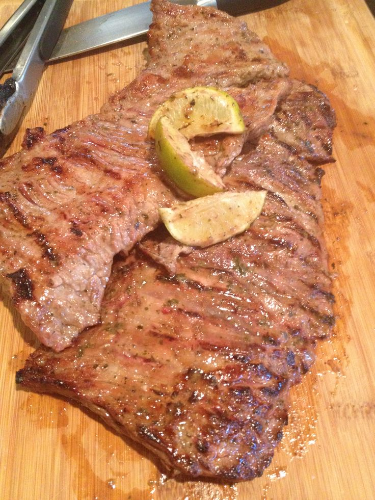 Grilled skirt steak | Food by Hand | Pinterest