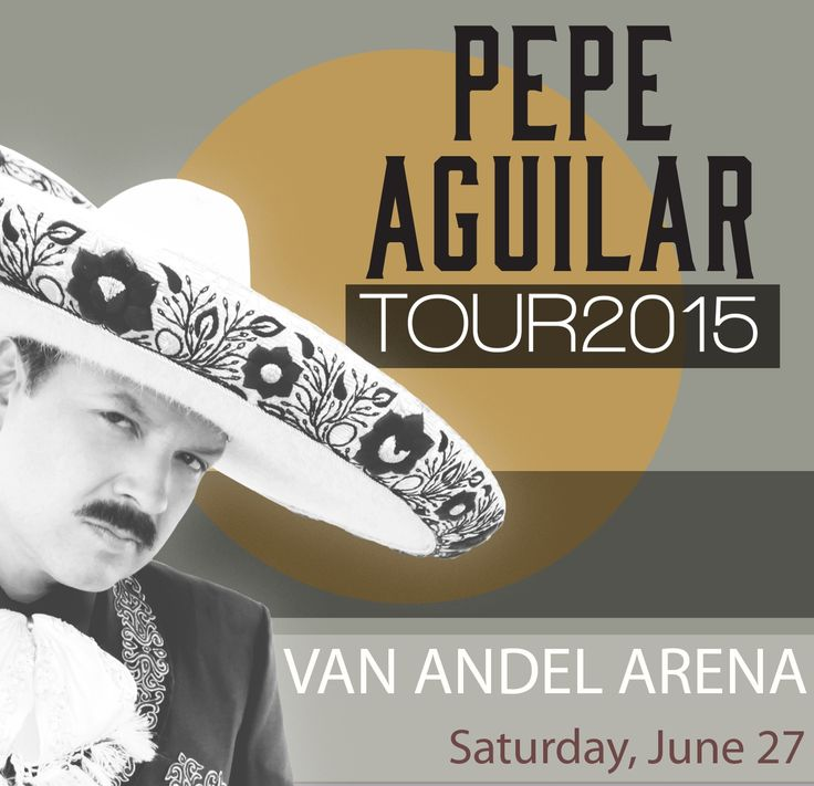 June 27 at 8:00 PM The son of music and film stars Antonio Aguilar and Flor Silvestre, Pepe Aguilar began his career at the age of three and has grown to become a star in his own right. Aguilar is a pure musician, combining the traditional ranchera and mariachi genres with rock and pop music to form his own unique sound. Pepe Aguilar's performance is Van Andel Arena's third annual Latin Music Concert, hosted by the Grand Rapids-Kent County Convention/Arena Authority's Community Inclusion…