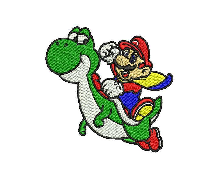 Mario Kart Embroidery Designs