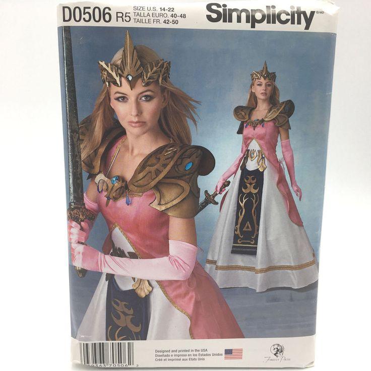 Simplicity 0506 Womens Plus Size Costume Warrior Princess Armor Sz 14 22 Pattern #Simplicity