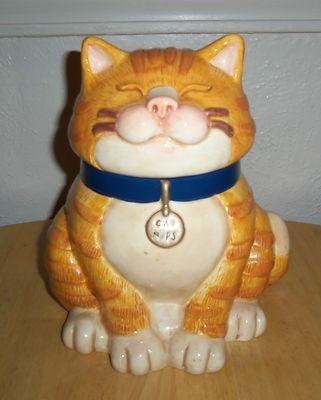 FIGI TABBY CAT COOKIE JAR ! SUPER CUTE! (: