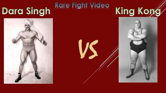 Rare video of Dara Singh and King Kong Bundy in fight
