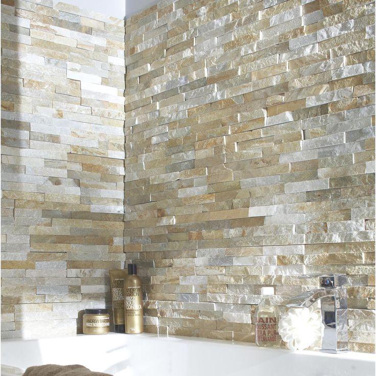 Pour mur du foncUsage produit:Mur intérieur et extérieur   Matière:Pierre naturelle   Couleur:Beige