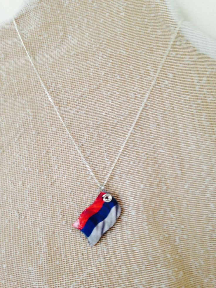 A personal favourite from my Etsy shop https://www.etsy.com/au/listing/399410703/serbian-flag-pendant-necklace-hands-made