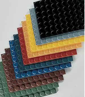 Rubber coin floor covering max. 10 x 1 000 x 1 000 mm Trelleborg Elastomer Laminates