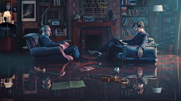 Benedict Cumberbatch, Martin Freeman, Sherlock, tv series wallpaper