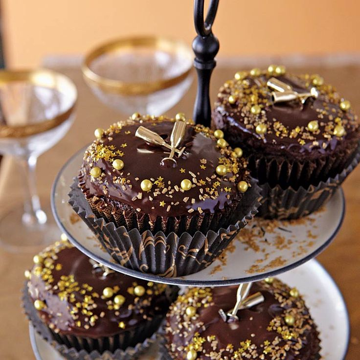 New Year's Cupcakes | MyRecipes