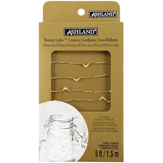 Purchase the Shimmer Lights™ Gold LED String Lights By Ashland® at Michaels.com. Decorate your mantel with these LED lights by Ashland.