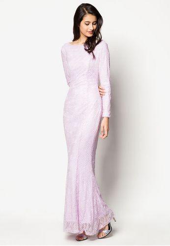 Embellished Lace Mermaid Dress