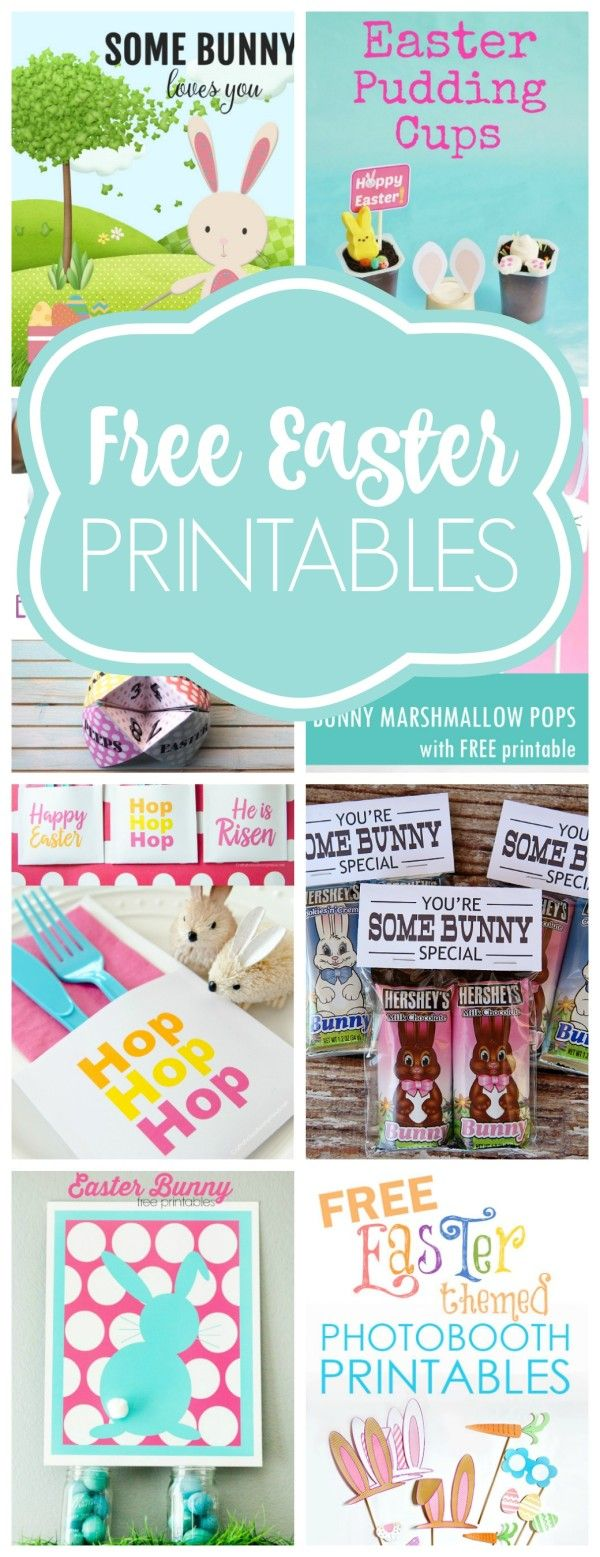 Get these Free Easter Printables just in time for Easter on prettymyparty.com.