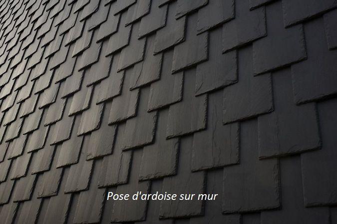 Mur en ardoise. Finition extérieur d'ardoise. Design avec ardoise. Fabriqué par Ardobec.