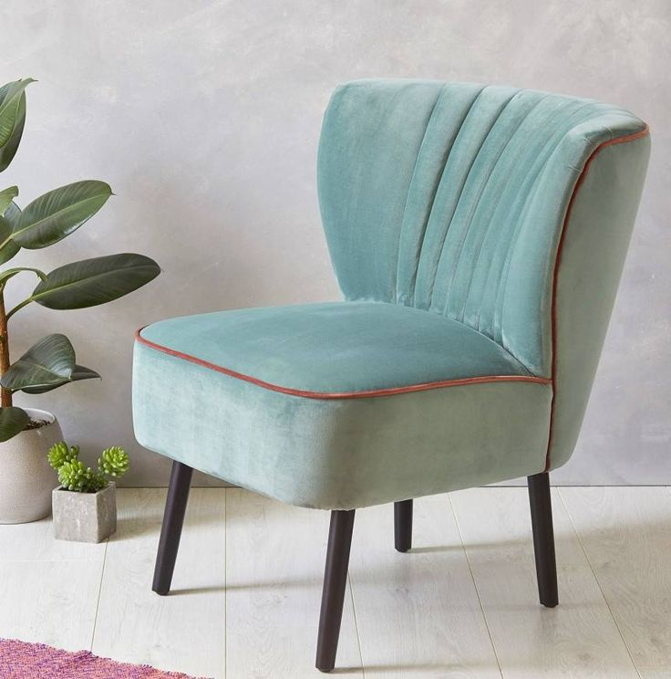 are you interested in our mint blue velvet cocktail chair with our midcentury - Blue Velvet Chair