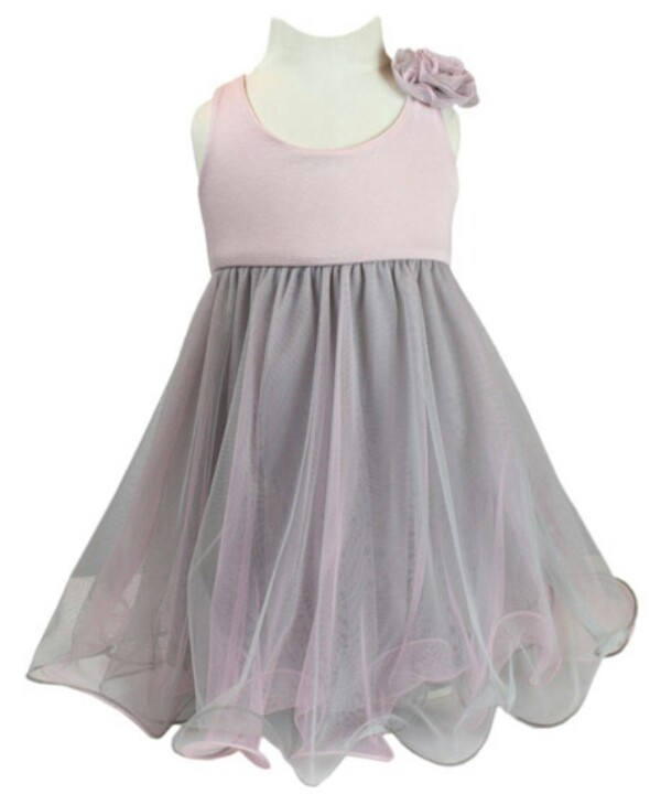 Pink and grey baby dress