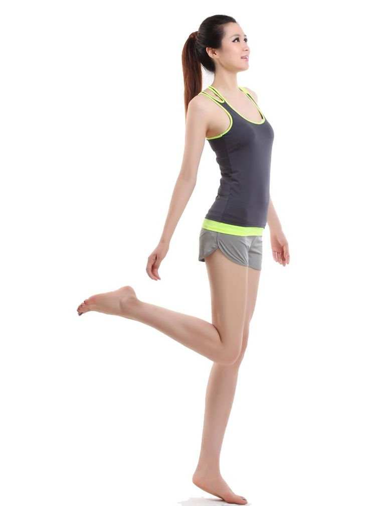 "2014 New Arrival Women's Yoga Clothing Set Tight Suit 3 Colors (Iron Grey, M: waist:27.55""-31.49""). material:85% nylon and 15% spandex. vest with a bra pad. good elasticity resulting in hard distortion, excellent air permeability, easy sun drying. suitable for yoga,exercise,dancing,aerobics or wearing at home. it's asian people size,so please check the size chart below carefully."