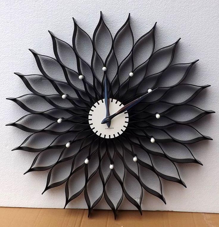 """OROLOGIO PARETE KARLSSON """"Lotus"""" In Plastica - resina!Misure cm 50 diametro!!!Old Style!!Nota la Lavorazione!!!!"""