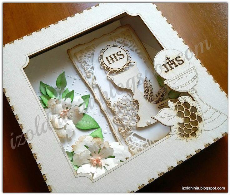 kartka komunijna w pudełku