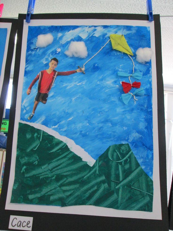 Kite collage art