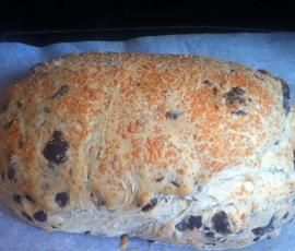 Recipe Parmesan Crusted Olive Bread by raven - Recipe of category Breads & rolls