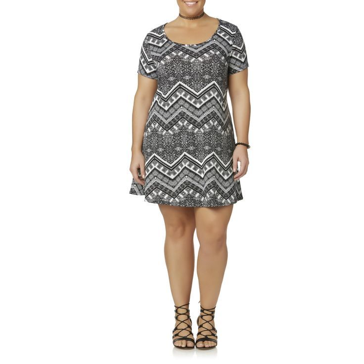 Awesome White Dresses For Plus Size Joe Boxer Plus Size Juniors' Plus Short-Sleeve Dress - Floral Chevron, Girl&... Check more at http://24store.tk/fashion/white-dresses-for-plus-size-joe-boxer-plus-size-juniors-plus-short-sleeve-dress-floral-chevron-girl/