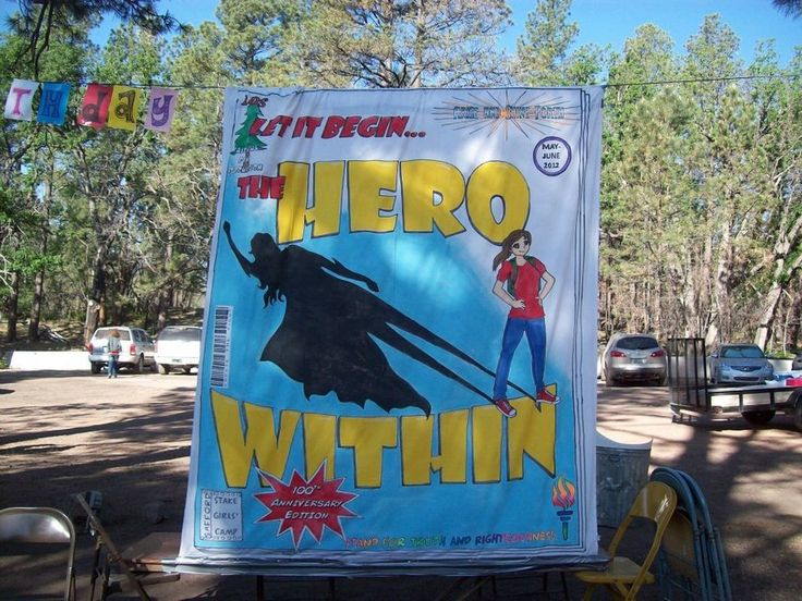 """""""The Hero Within"""" would be a cool girl's camp theme"""