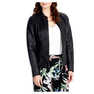 Wallis Black biker jacket- | Debenhams