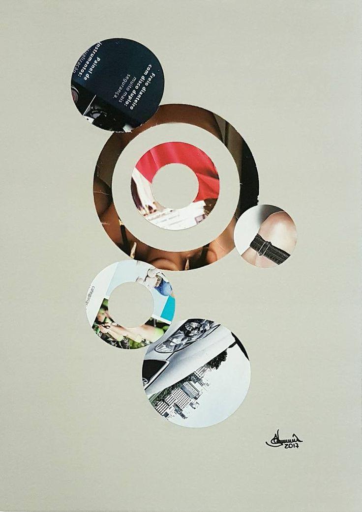 "Saatchi Art Artist Richard Brandão; Collage, ""CIRCLES Nº 024"" #art"