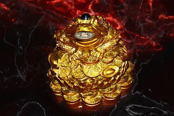 BROASCA BANILOR - reprezinta cel mai semnificativ simbol al norocului de bogatie si al prosperitatii. Este una dintre cele 5 creaturi benefice chinezesti care te protejeaza de ghinion si iti aduce un belsug imens. Trebuie puse in numar de 1, 2, 3, 8 sau 9. Se poate comanda aici: http://www.efengshui.ro/produse/broasca-banilor-.php.