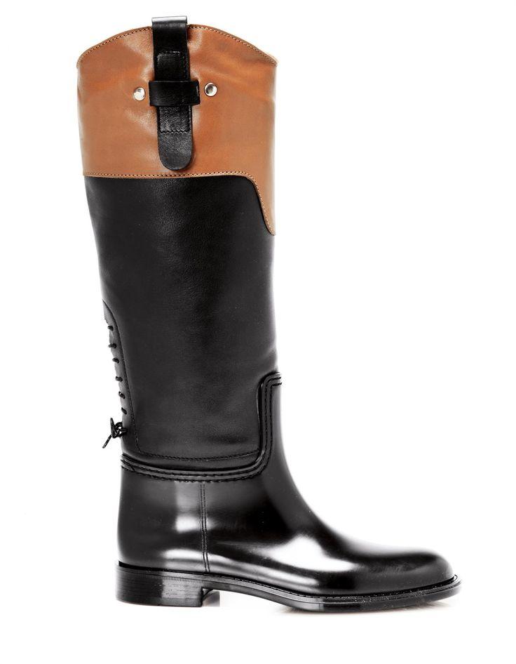 Stiefel im Materialmix in der Farbe schwarz / cognac - Größen 39/40/37/41/36/38 im Madeleine Mode Onlineshop