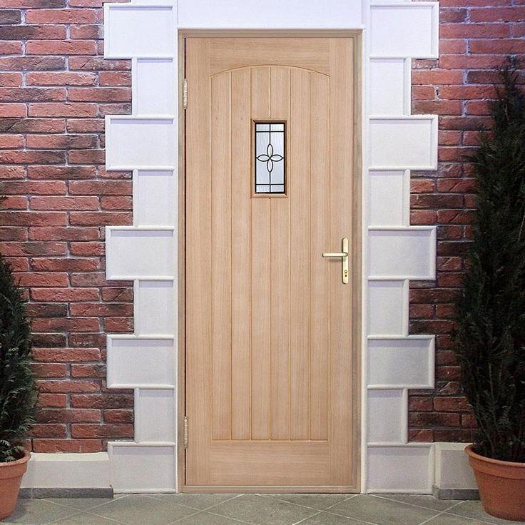 Part L Compliant Chesham Exterior Oak Door with Part Obscure Double Glazing, Warmerdoor Style. #partldoor #externaloakdoor #externaldoor