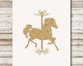 Carousel Horse 5x7 Invite and Party Decorations ~ Personalized Printable Download