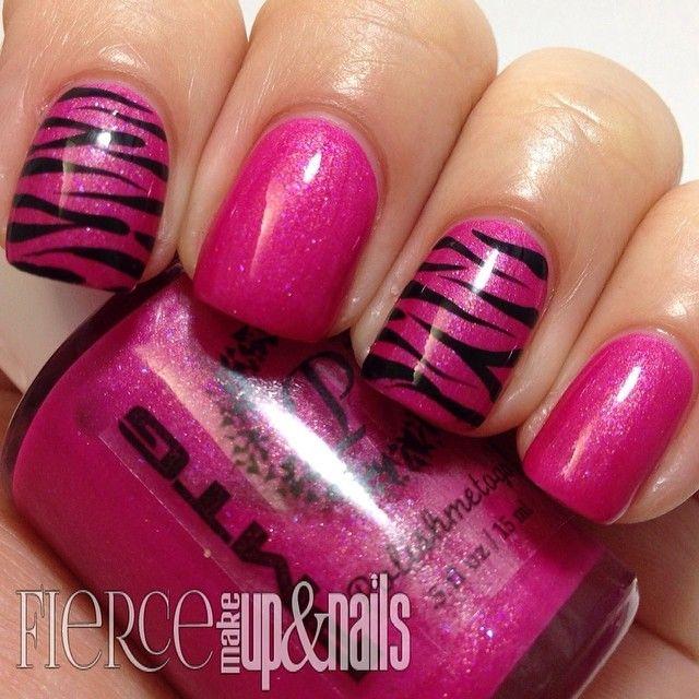 Best 25 zebra stripe nails ideas on pinterest zebra print nails fiercemakeupandnails i like the pink with tiger stripes nails prinsesfo Choice Image