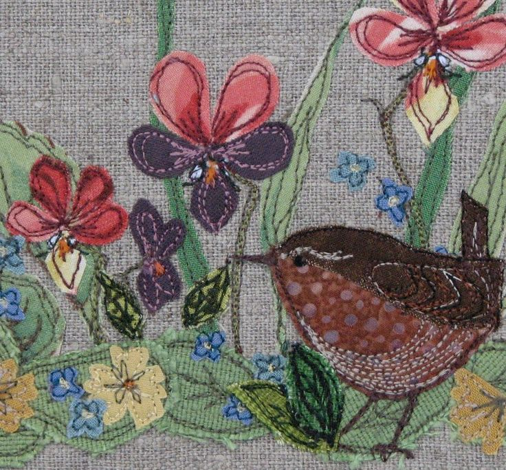 Fabric bowl - Wren and Wildflowers