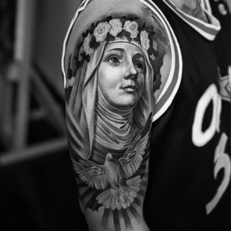 // LINK // 35 Spiritual Virgin Mary Tattoo Designs & Meanings