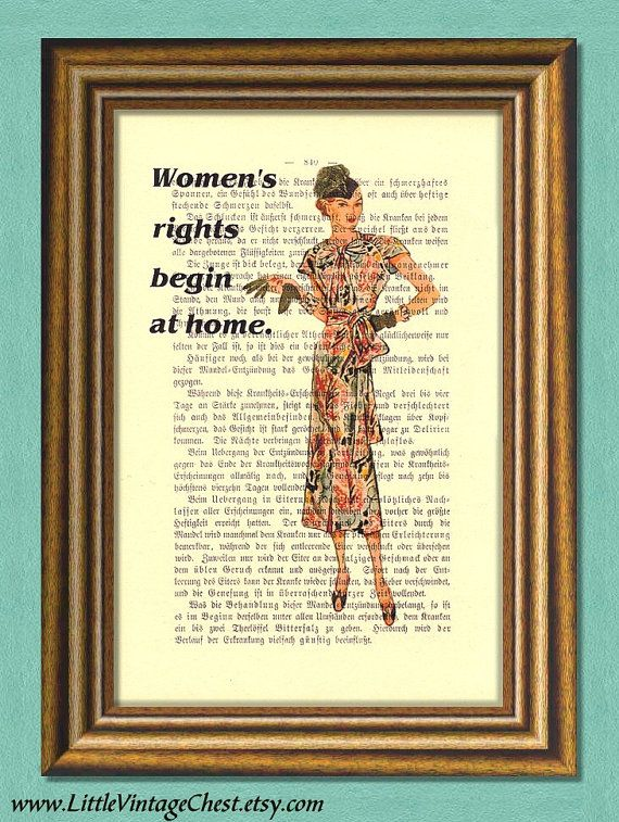 Downton Abbey WOMEN'S RIGHTS  Dictionary Art by littlevintagechest, $7.99