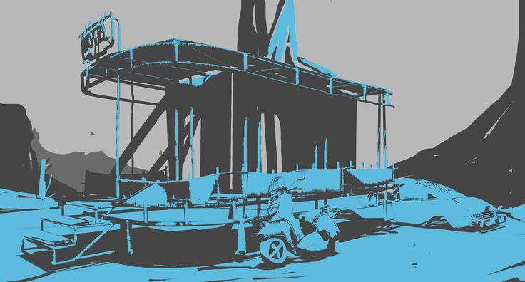 ArtStation - Environment sketches , Fuad Quaderi
