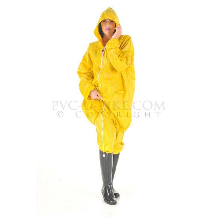 PUL PVC - Jacke Regenjacke gelb RA03 UNISEX JACKET