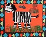 zebra BORD AFRIKA OP: https://nl.pinterest.com/liavanp/davinci-afrika/