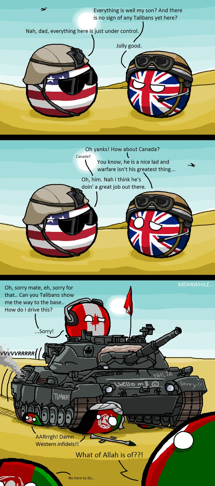 Canadian Reinforcement ( USA, UK, Canada ) by Kaliningrad General #polandball #countryball