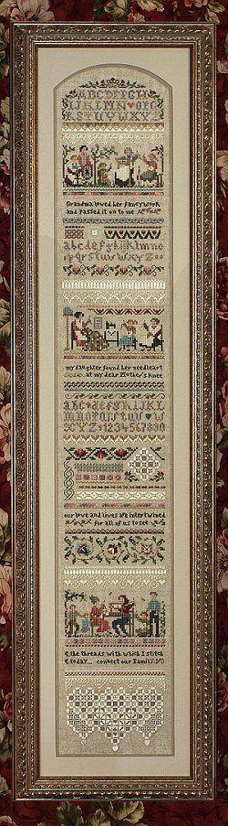 Heirloom Stitching Sampler - Cross Stitch Pattern
