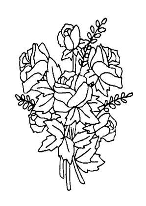 blumenstrauss mit rosen 2 zum ausmalen. #ausmalbilder | #