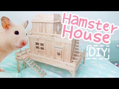 Popsicle Stick House ☆HAMSTER DIY☆ - YouTube
