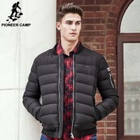 1ac05393aa8a2 ... Slim Down Jacket White Student Youth Silver … Pioneer Camp Thick warm  duck down jacket men top quality brand winter down coat men fashion