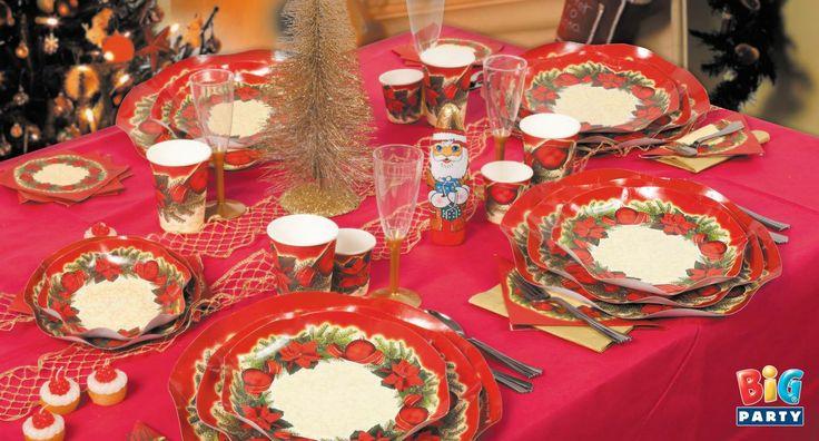 Set tavola Festivity: la scelta giusta per il tuo pranzo natalizio!  www.bigparty.it