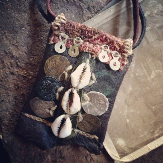 coins and cowry protective necklace by infinitystop on Etsy