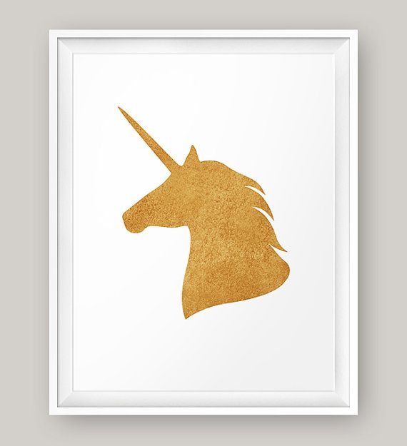 Unicorn Printable Unicorn Head Gold Unicorn Print