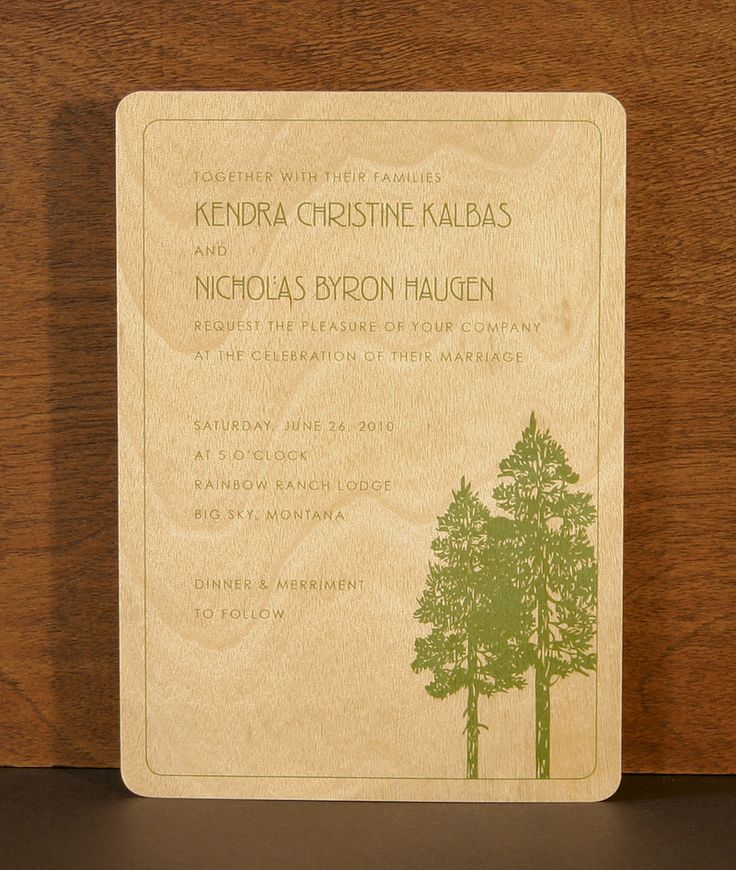 53 best print your design on wood images on pinterest owl paper create your own wood wedding invitation wood party invitation stopboris Images