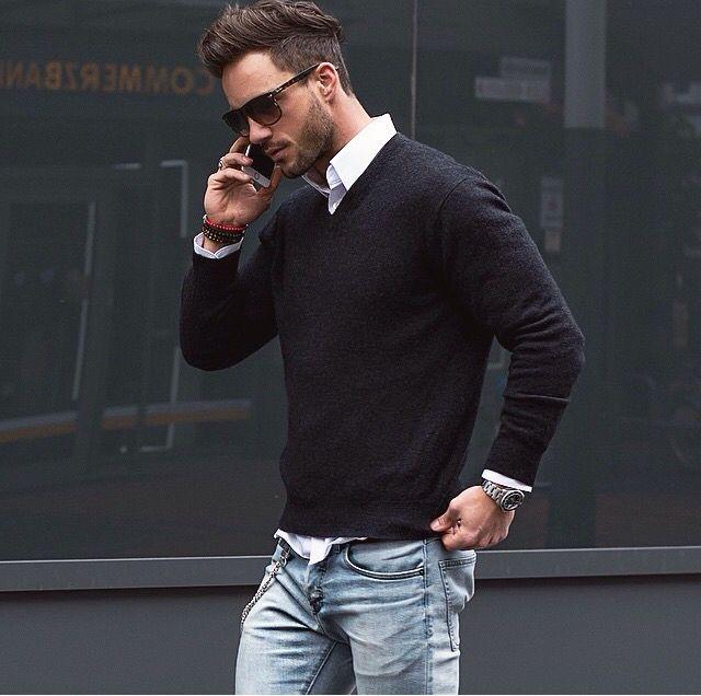 Homem de estilo.                                                                                                                                                                                 Mais