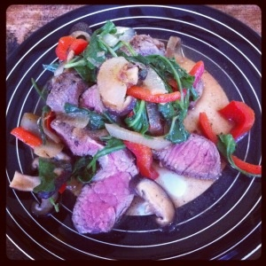 Pan Seared Steak and Veggies