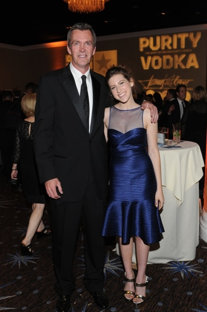 Neil Flynn and Eden Sher of The Middle enjoy the night by the Purity Vodka bar at the 2013 Critics' Choice Awards.